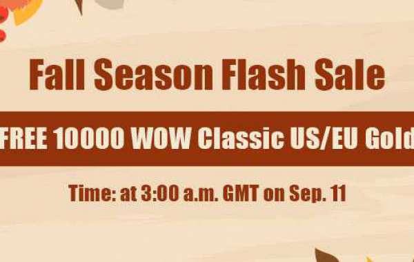Free 10000 wow classic auction house gold on WOWclassicgp as Fall Season Flash Sale