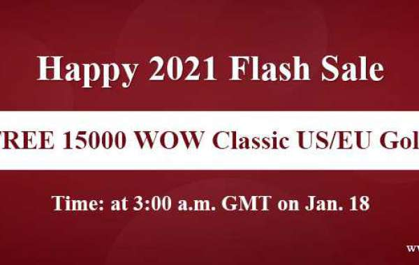 Snap Up Free 15000 gold on wow classic on Happy 2021 Flash Sale Jan 18