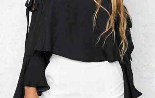 Off The Shoulder Plain Lace Short Sleeve Irregular Hem Black Plus Size Tops