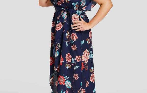 V-Neck Cold Shoulder Polka Dot Backless Short Sleeve High-Low Hem Plus Size Midi Dresses