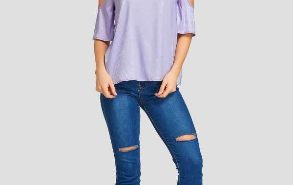 Grey Round Neck Lace Long Sleeve Fashion T-Shirts