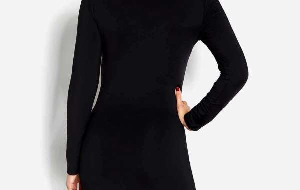 Cold Shoulder Plain Long Sleeve Irregular Hem Black Top